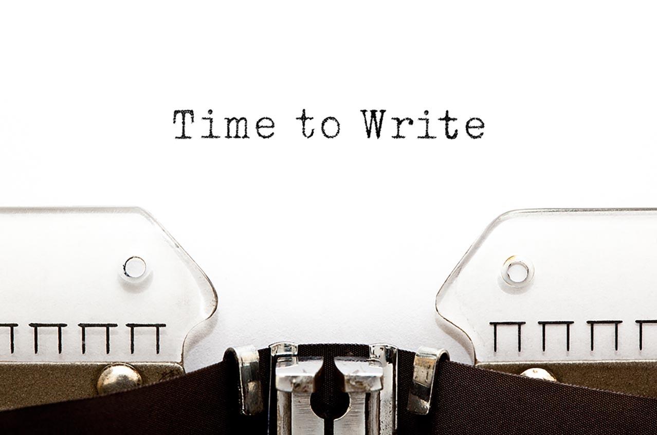 Symbolfoto Time to Write
